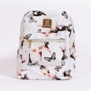 NWOT Floral mini backpack in white